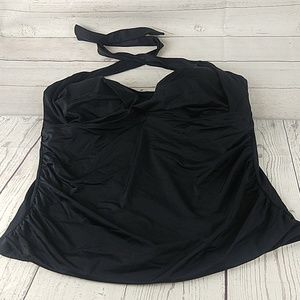 Swimsuits for all size 22 tankini top black